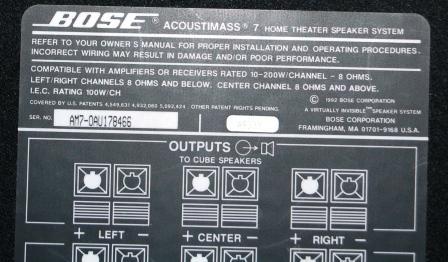 surplus auctions item detail rh legacy texasbidsystem com Bose Acoustimass 7 Trouble Bose Acoustimass 7 Trouble